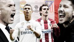 Indosport - Real Madrid vs Atletico Madrid.