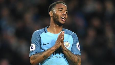 Gelandang Manchester City, Raheem Sterling. - INDOSPORT