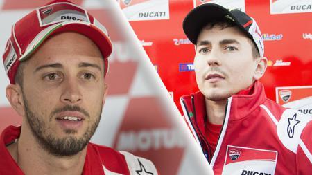 Jorge Lorenzo dan Andrea Dovizioso. - INDOSPORT