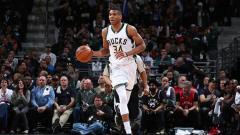 Indosport - Bintang muda Milwaukee Bucks, Giannis Antetokounmpo.