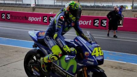 Pembalap andalan Movistar Yamaha, Valentino Rossi. - INDOSPORT