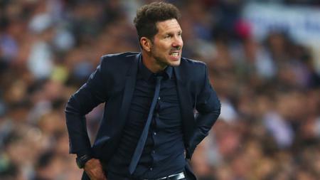 Pelatih Atletico Madrid, Diego Simeone, mengatakan bahwa klub LaLiga Spanyol itu tidak sekuat saat 2014 yang lalu karena banyak pemain muda di timnya sekarang. - INDOSPORT