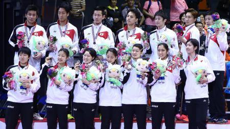 Media China memberikan sindirian kepada pemain Jepang dengan menyebut bahwa kompetisi Denmark Open 2020 merupakan ajang dunia bagi tim Negeri Sakura. - INDOSPORT