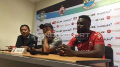 Indosport - Boubacar Sanogo dalam konferensi pers jelang hadapi Persija Jakarta.