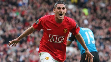 Federico Macheda saat mencetak gol untuk Manchester United. - INDOSPORT