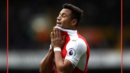 Gelandang serang Arsenal, Alexis Sanchez. - INDOSPORT