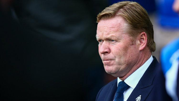 Pelatih Everton, Ronald Koeman. Copyright: Robbie Jay Barratt - AMA/Getty Images