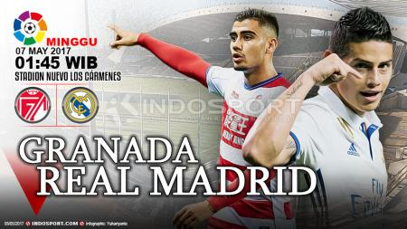 Granada vs Real Madrid. - INDOSPORT