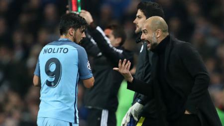 Striker Manchester City, Nolito. - INDOSPORT