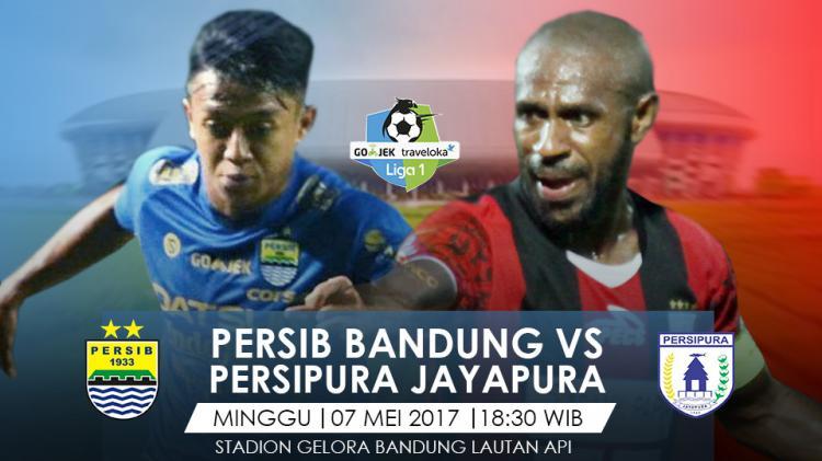 Prediksi Persib Bandug vs Persipura Jayapura. Copyright: Grafis: Eli Suhaeli/INDOSPORT/Go-Jek Traveloka L1