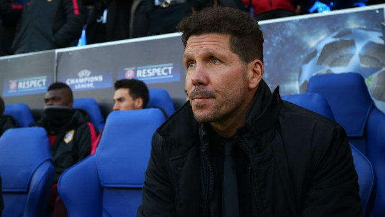 Pelatih Atletico Madrid, Diego Simeone. Copyright: Catherine Ivill - AMA/Getty Images