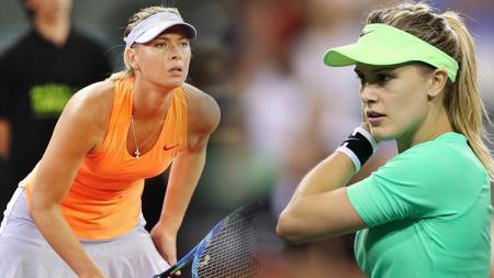 Maria Sharapova vs Eugenie Bouchard. - INDOSPORT