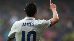 Gelandang Real Madrid, James Rodriguez.