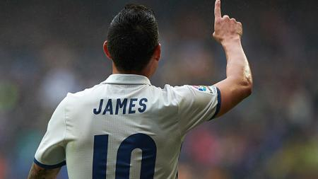 Gelandang Real Madrid, James Rodriguez. - INDOSPORT