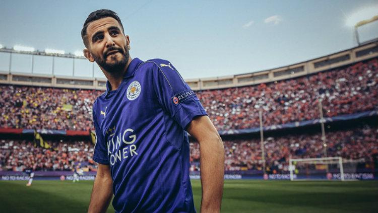 Winger andalan Leicester City, Riyad Mahrez. Copyright: Michael Regan/Getty Images