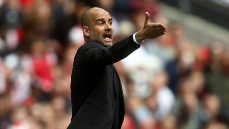 Pelatih Manchester City, Pep Guardiola. - INDOSPORT