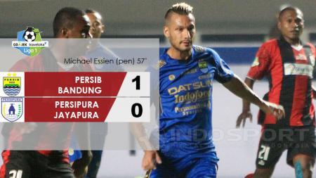 Hasil pertandingan Persib Bandung vs Persipura Jayapura. - INDOSPORT
