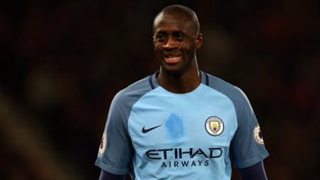 Yaya Toure saat masih berseragam Manchester City sebelum pindah ke Olympiacos. Catherine Ivill-AMA/Getty Images. - INDOSPORT