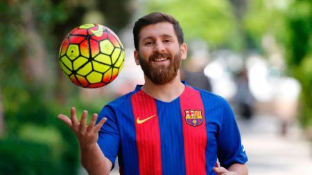 Reza Parastesh, kembaran Lionel Messi. - INDOSPORT