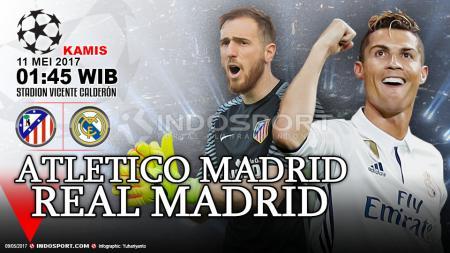 Prediksi Atletico Madrid vs Real Madrid. - INDOSPORT
