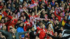 Indosport - Fans Atletico Madrid.