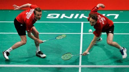 Mathias Boe/Carsten Mogensen saat melawan China di Piala Sudirman 2013. - INDOSPORT
