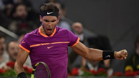 Rafael Nadal, berhasil kalahkan Del Potro. - INDOSPORT