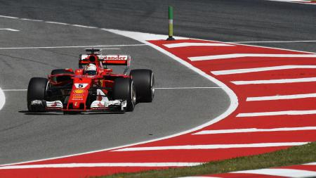 Pembalap Ferrari, Sebastian Vettel - INDOSPORT