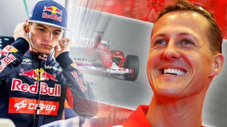 Max Verstappen dan Michael Schumacher. - INDOSPORT