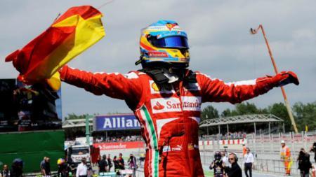Fernando Alonso menang GP Spanyol 2013. - INDOSPORT