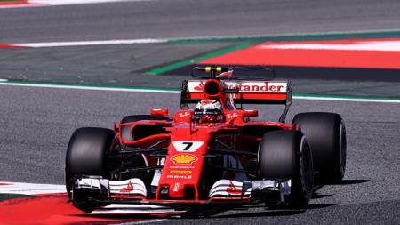 Pembalap Ferrari, Kimi Raikkonen. - INDOSPORT