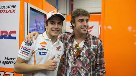 Fernando Alonso dan Marc Marquez. - INDOSPORT