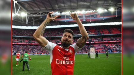 Olivier Giroud, Penyerang Arsenal. - INDOSPORT