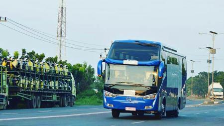 Bus Persib Bandung. - INDOSPORT