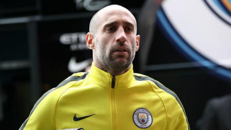 Pablo Zabaleta saat masih membela Manchester City. - INDOSPORT