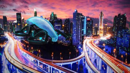 Desain mobil terbang yang akan dipakai di Olimpiade Tokyo 2020. - INDOSPORT