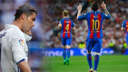 Cristiano Ronaldo dan Lionel Messi sudah tidak lagi memeriahkan El Clasico Liga Spanyol. - INDOSPORT