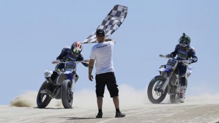 Anggi Setiawan juara di Motor Ranch Valentino Rossi. - INDOSPORT