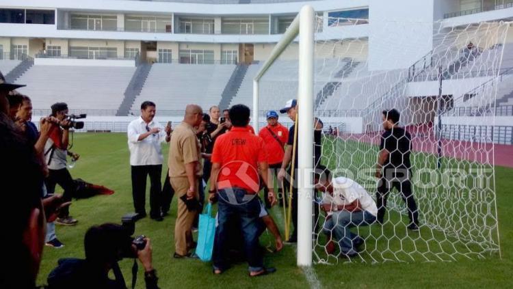 Stadion Batakan Balikpapan. Copyright: Teddy Rumengan/Indosport