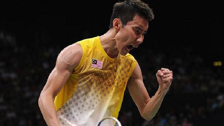 Selebrasi Lee Chong Wei. Copyright: Fourthofficial