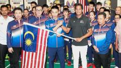 Indosport - Timnas Bulutangkis Malaysia.
