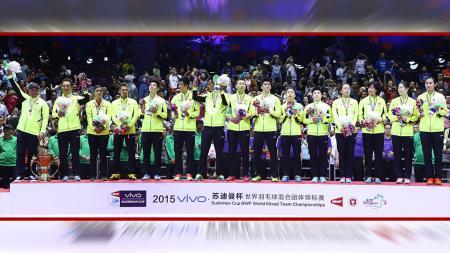 Media China berujar ditundanya kompetisi Piala Thomas - Uber 2020 tahun ini oleh Federasi Bulutangkis Dunia (BWF) sangat menguntungkan bagi wakilnya, kok bisa? - INDOSPORT