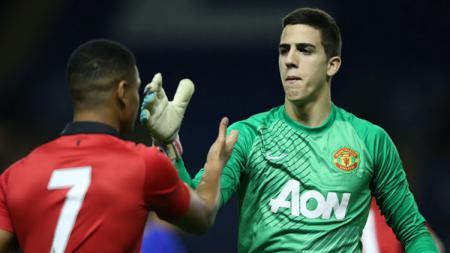 Kiper ketiga Manchester United, Joel Castro Pereira. - INDOSPORT