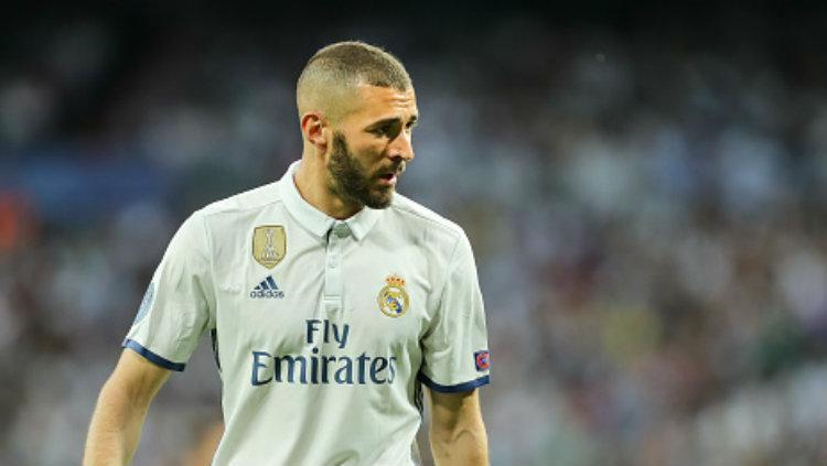 Striker andalan Real Madrid, Karim Benzema. Copyright: TF-Images/Getty Images