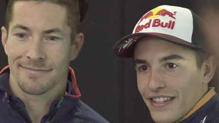 Marc Marquez (kanan) dan Nicky Hayden. - INDOSPORT