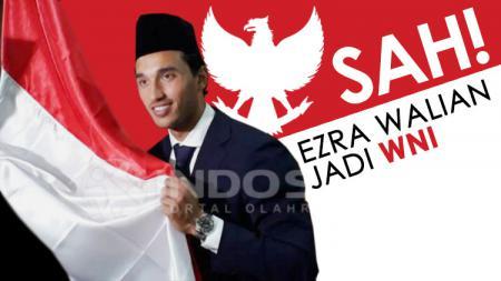 Resmi Ezra Walian menjadi Warga Negara Indonesia (WNI). - INDOSPORT