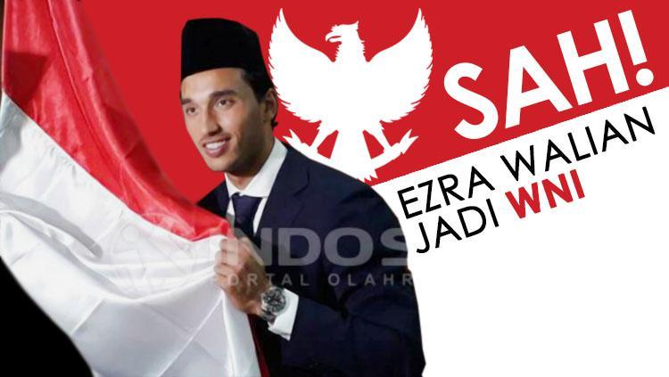 Resmi Ezra Walian menjadi Warga Negara Indonesia (WNI). Copyright: Grafis: Eli Suhaeli/INDOSPORT