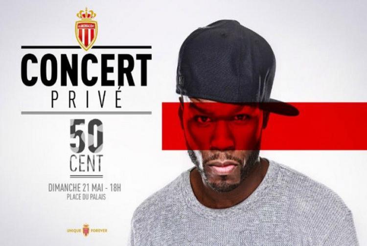 Poster 50 Cent dalam perayaan kemenangan AS Monaco. Copyright: CheapGoals