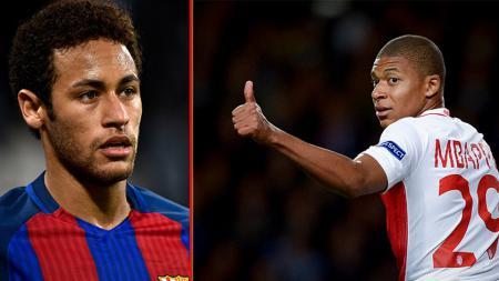 Kylian Mbappe (kiri) dan Neymar. - INDOSPORT