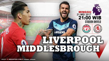 Prediksi Liverpool vs Middlesbrough. - INDOSPORT